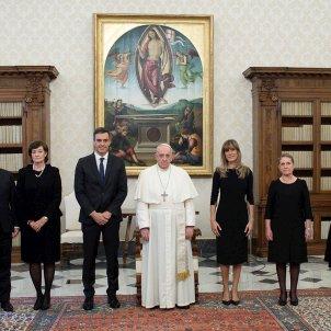 Trobada Papa Sánchez Vaticà - Efe
