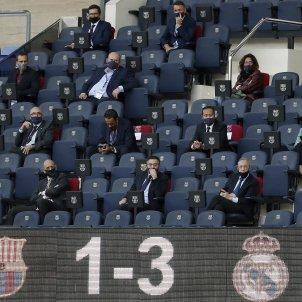 Josep Maria Bartomeu Florentino Perez llotja Camp Nou directius Barca Madrid EFE