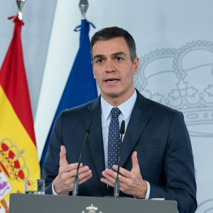 El presidente del Gobierno, Pedro Sánchez, en una rueda de prensa. Foto: Europa Press