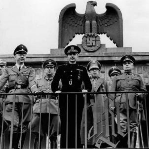 El ministre de treball nazi ve a Barcelona a buscar treballadors esclaus. Himmler i Serrano Súñer. Font Bundesarchiv. Berlin
