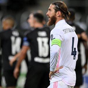 Sergio Ramos Reial Madrid trist Champions Borussia Monchengladbach EFE