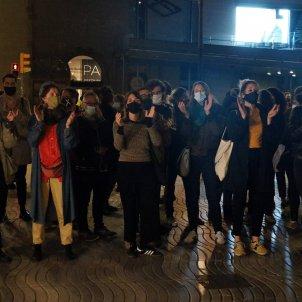 Manifestació cultura tancament sector segona onada Covid 19. Foto: ACN