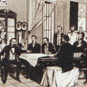 Retrat del govern revolucionari cubà (circa 1897). Font Ministerio de Educación de Cuba