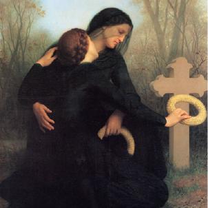 Representació del dia dels difunts (1859), obra de William Adolphe Bouguereau. Font Museu de Belles Arts de Burdeus.
