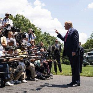 Donald Trump al South Lawn de la Casa Blanca 20190626 abans de marxar al G20 de Japó. (Joyce N. Boghosian, The White House)