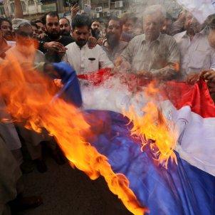 Manifestacíó antifrança Pakistan / EFE