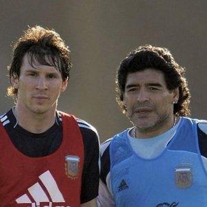 Messi Maradona Argentina AFA @leomessi
