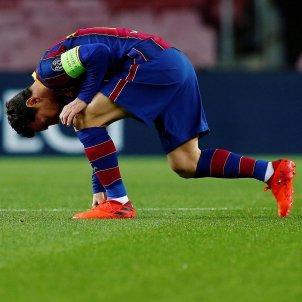Leo Messi pensatiu Barca Champions EFE