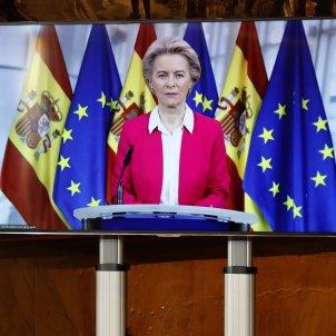 La presidenta de la Comisión Europea, Ursula von der Leyen en una Conferencia de presidentes autonómicos. Foto: Europa Press