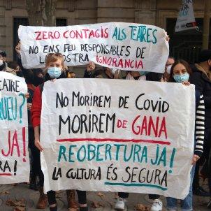 Protesta mon cultura restriccions Covid-19 ACN