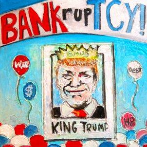 20201103 Eleccions presidencials EUA Trump pintada bankruptcy (Thorbakopper)