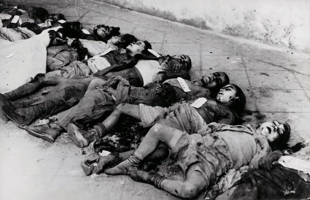 Los aliados del franquismo bombardean Barcelona. Bombardeo sobre Sant Felip Neri. Enero de 1938