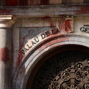 façana palau generalitat pintura - ACN