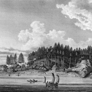 Representació de l'illa de Nootka (Columbia). Font Wikimedia Commons