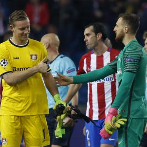 Oblak Leno Atlètic de Madrid Bayer Leverkusen Champions League Efe
