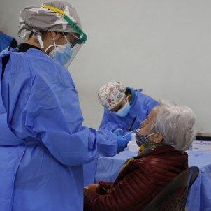 test antígens coronavirus residencia Madrid EFE