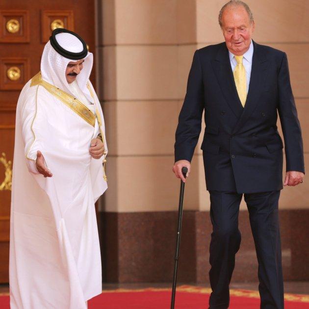 Juan Carlos con el rey de Baréin Hamad bin Isa Al Khalifa GTRES