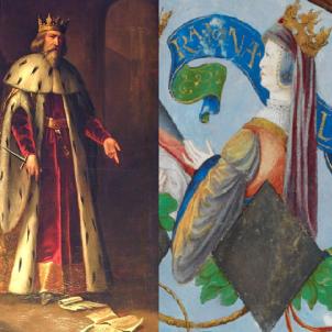 Pere el Cerimoniòs es casa amb Elionor, la reina que moriria de pesta negra. Font Diputació de Saragossa i British Library