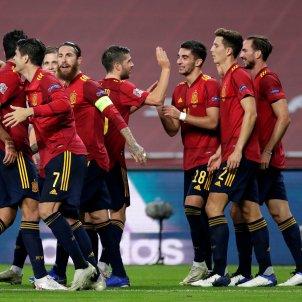 Espanya celebracio gol Alemanya EFE