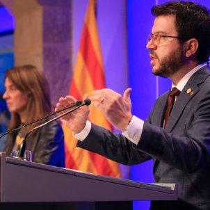 Aragonès Budó roda de premsa pla desescalada Covid Jordi Bedmar