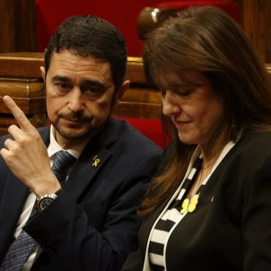 Damià Calvet i Laura Borràs ACN