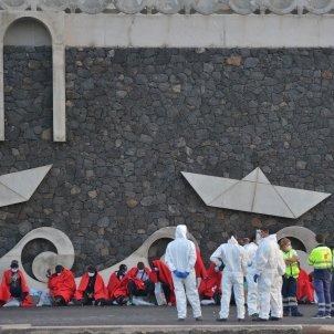 Immigrants arribats a les Canàries EFE