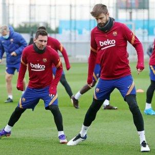 Messi Piqué Entrenament FCB