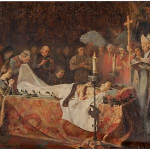 Representació moderna de la mort de Carles de Viana (1887), obra de Vicente Poveda.  Font Museo del Prado