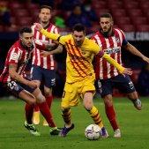 Leo Messi senyera Hermoso Koke Barca Atletic Madrid EFE