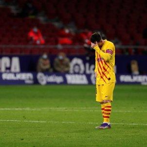 Leo Messi trist EFE