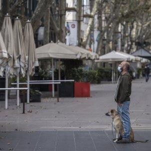 la rambla buida terrassa home gos crisi carrers buits Covid -  Sergi Alcazar