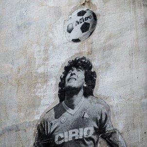 Maradona grafit a Nàpols (Jack Hunter)