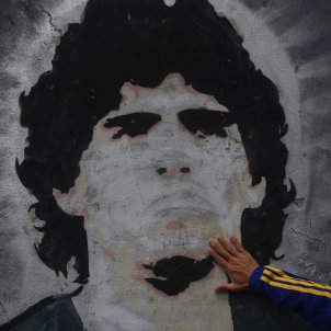 Maradona mural Argentina mor Europa Press