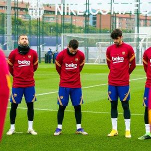 Leo Messi Barca Jordi Alba Trincao entrenament @FCB