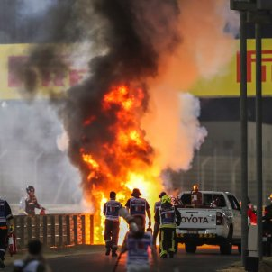 Accident Grosjean flames Fórmula 1 EFE
