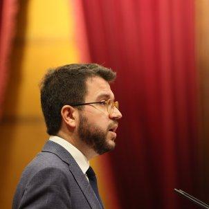 Pere Aragonès Parlament coronavirus 4   Sergi Alcàzar