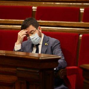 Pere Aragonès Parlament coronavirus   Sergi Alcàzar