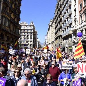 Manifestació Socistat Civil Catalana