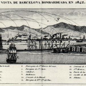 El regent d'Espanya ordena el bombardeig de Barcelona. Font. Wikimedia commons