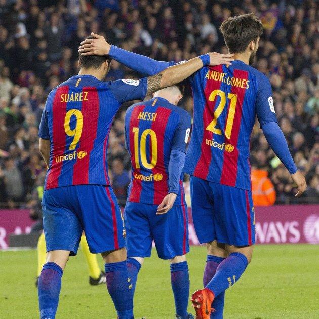 Messi Luis Suárez André Gomes Barça Efe