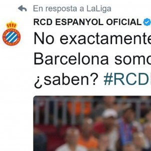 Espanyol tweet Captura pantalla