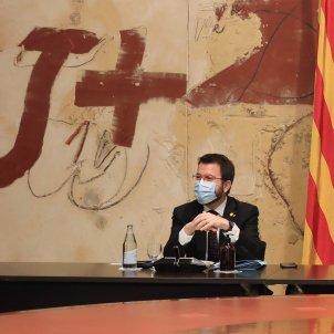 Pere Aragonès Meritxell Budó reunión Govern martes 15 des 2020 Jordi Bedmar