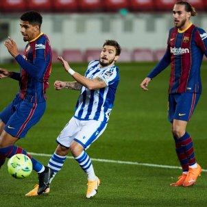 Araujo Mingueza Portu Barca Real Sociedad EFE