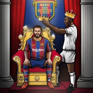 Messi Pele FC Barcelona