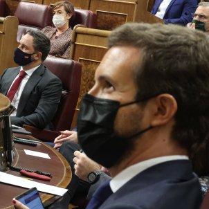 EuropaPress 3385868 presidente pp pablo casado pleno debate mocion censura planteada vox