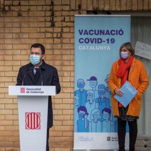 Aragonès  y Vergés vacunación Covid EP