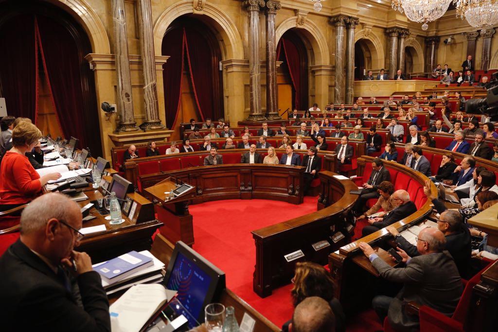 Hemicicle Parlament ple sessio de control - Sergi Alcàza
