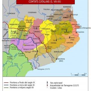 Comtats catalans s. VIII XII / Wikimedia Commons Nekto