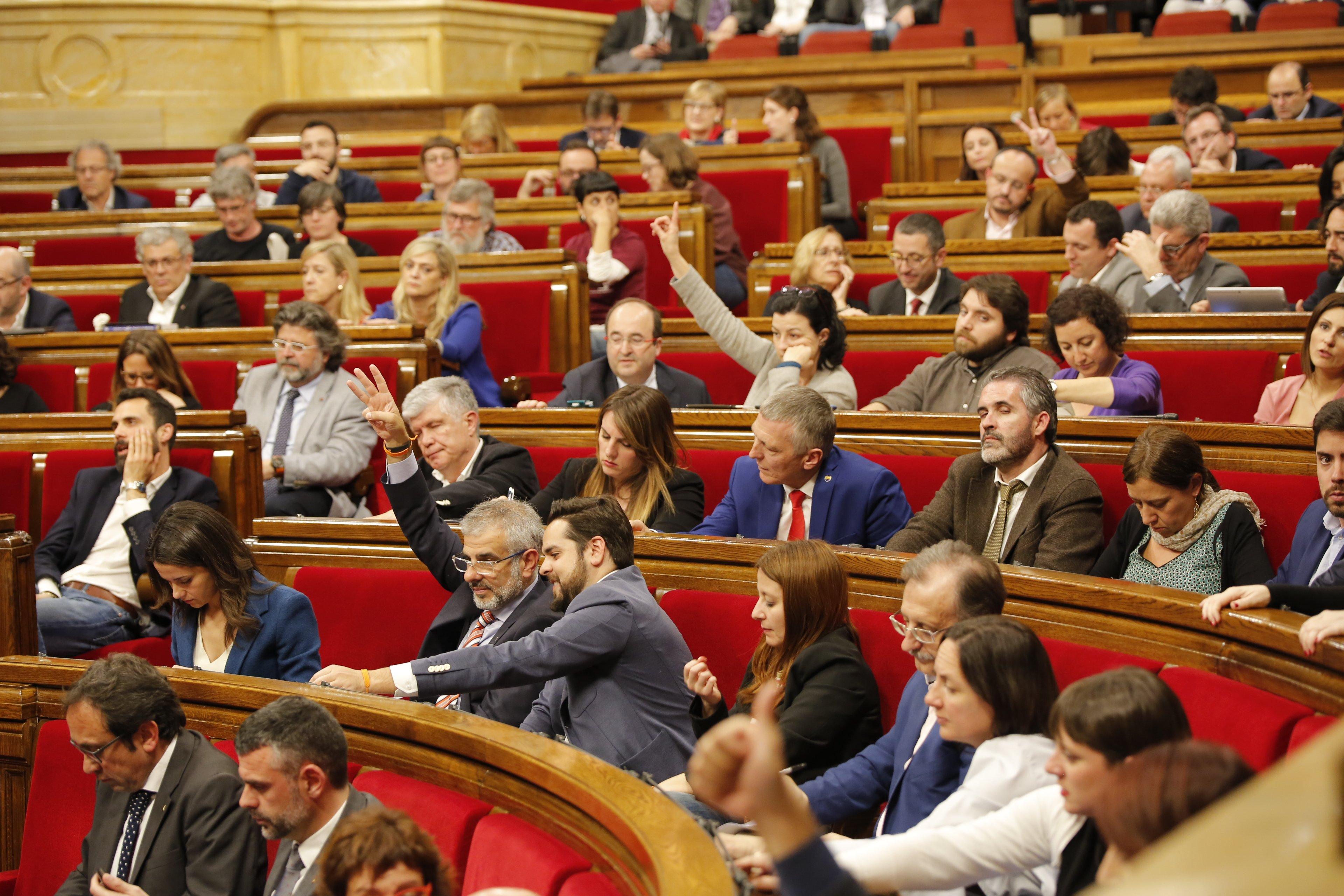 Oposició Ciutadans PSC PP votacions Parlament Hemicicle - Sergi Alcàzar
