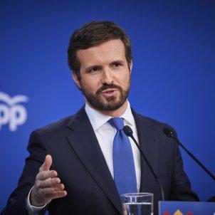 EuropaPress - presidente partido popular pp pablo casado comparece rueda prensa hacer